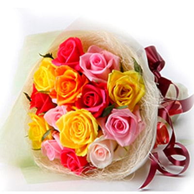 valentine's day mixed roses delivery to belgaum
