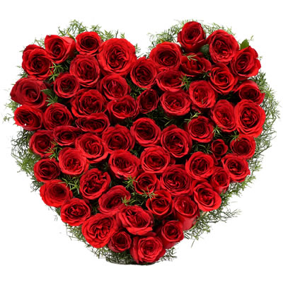 valentine's day red roses bunch to dharwad on midnight