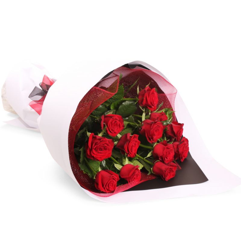 send Bunch of 12 Red Roses to Belgaum